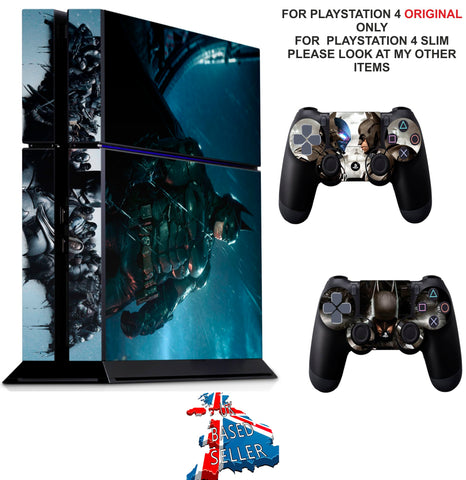 BATMAN ARKHAM NIGHT PS4 *TEXTURED VINYL ! * PROTECTIVE SKINS DECAL WRAP STICKERS