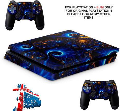 SWIRLS PS4 SLIM *TEXTURED VINYL ! *PROTECTIVE SKINS DECALS WRAP