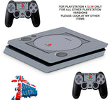 PS1 STYLE PS4 SLIM *TEXTURED VINYL ! *PROTECTIVE SKINS DECALS WRAP