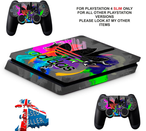 ADIDAS COMBI PS4 SLIM *TEXTURED VINYL ! *PROTECTIVE SKINS DECALS WRAP