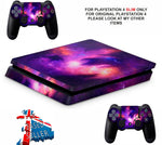 NEBULA GALAXY PS4 SLIM *TEXTURED VINYL ! *PROTECTIVE SKINS DECALS WRAP