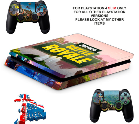 FORTNITE BATTLE ROYALE PS4 SLIM *TEXTURED VINYL ! *PROTECTIVE SKINS DECALS WRAP