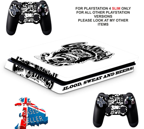 FAST N LOUD PS4 SLIM *TEXTURED VINYL ! *PROTECTIVE SKINS DECALS WRAP