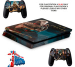 ASSASSINS CREED PS4 SLIM *TEXTURED VINYL ! *PROTECTIVE SKINS DECALS WRAP