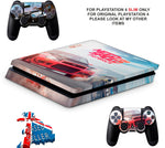 NEED FOR SPEED PAYBACK PS4 SLIM *TEXTURED VINYL ! *PROTECTIVE SKINS DECALS WRAP