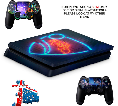 ROCKET LEAGUE PS4 SLIM *TEXTURED VINYL ! *PROTECTIVE SKINS DECALS WRAP