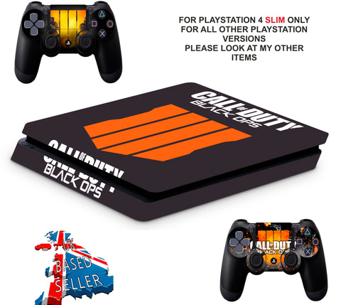 CALL OF DUTY BLACK OPS 4 PS4 SLIM *TEXTURED VINYL ! *PROTECTIVE SKINS DECALS WRAP