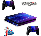 LIGHTNING PS4 SLIM *TEXTURED VINYL ! *PROTECTIVE SKINS DECALS WRAP