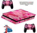 PINK CAMO PS4 SLIM *TEXTURED VINYL ! *PROTECTIVE SKINS DECALS WRAP