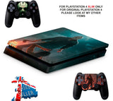 FRIDAY 13TH PS4 SLIM *TEXTURED VINYL ! *PROTECTIVE SKINS DECALS WRAP
