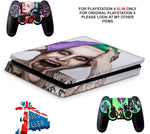SUICIDE SQUAD PS4 SLIM *TEXTURED VINYL ! *PROTECTIVE SKINS DECALS WRAP
