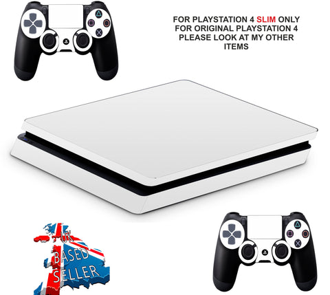 WHITE PS4 SLIM *TEXTURED VINYL ! *PROTECTIVE SKINS DECALS WRAP