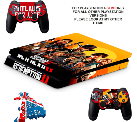 RED DEAD REDEMPTION STYLE PS4 SLIM *TEXTURED VINYL ! *PROTECTIVE SKINS DECALS WRAP