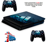 ADIDAS BLUE BUBBLES PS4 SLIM *TEXTURED VINYL ! *PROTECTIVE SKINS DECALS WRAP