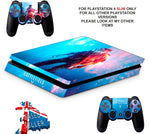 BATTLEFIELD V PS4 SLIM *TEXTURED VINYL ! *PROTECTIVE SKINS DECALS WRAP