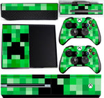 GREEN PIXELS XBOX ONE *TEXTURED VINYL ! *PROTECTIVE VINYL SKIN DECAL WRAP