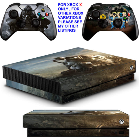 FALLOUT 76 XBOX ONE X *TEXTURED VINYL ! * PROTECTIVE SKINS DECALS STICKERS