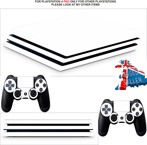 WHITE EDITION PS4 PRO SKINS DECALS (PS4 PRO VERSION) TEXTURED VINYL