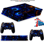 SWIRLS PS4 PRO SKINS DECALS (PS4 PRO VERSION) TEXTURED VINYL