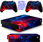 NEBULA 4 XBOX ONE X *TEXTURED VINYL ! * PROTECTIVE SKINS DECALS STICKERS