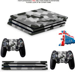GRAY CAMO PS4 PRO SKINS DECALS (PS4 PRO VERSION) TEXTURED VINYL