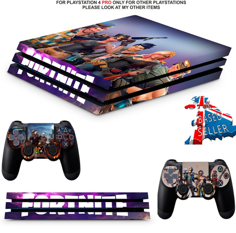 FORTNITE PS4 PRO SKINS DECALS (PS4 PRO VERSION) TEXTURED VINYL