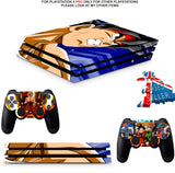 DRAGON BALL Z PS4 PRO SKINS DECALS (PS4 PRO VERSION) TEXTURED VINYL