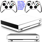 WHITE EDITION XBOX ONE X *TEXTURED VINYL ! * PROTECTIVE SKINS DECALS STICKERS