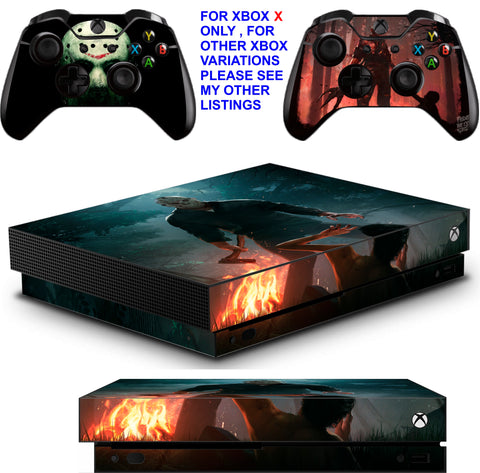 FRIDAY THE 13TH XBOX ONE X *TEXTURED VINYL ! * PROTECTIVE SKINS DECALS STICKERS