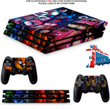 FIVE NIGHTS AT FREDDY'S 5 PS4 PRO SKINS DECALS (PS4 PRO VERSION) TEXTURED VINYL