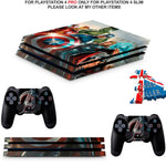 AVENGERS PS4 PRO SKINS DECALS (PS4 PRO VERSION) TEXTURED VINYL