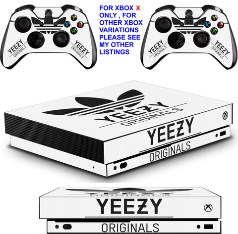 ADIDAS YEEZY XBOX ONE X *TEXTURED VINYL ! * PROTECTIVE SKINS DECALS STICKERS