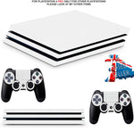 WHITE CARBON EFFECT PS4 PRO SKINS DECALS (PS4 PRO VERSION) TEXTURED VINYL