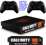 CALL OF DUTY BLACK OPS 4 XBOX ONE X *TEXTURED VINYL ! * PROTECTIVE SKINS DECALS STICKERS