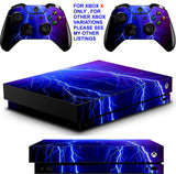 LIGHTNING XBOX ONE X *TEXTURED VINYL ! * PROTECTIVE SKINS DECALS STICKERS