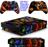 FIVE NIGHTS AT FREDDY'S 5 XBOX ONE X *TEXTURED VINYL ! * PROTECTIVE SKINS DECALS STICKERS
