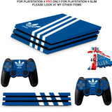 ADIDAS BLUE PS4 PRO SKINS DECALS (PS4 PRO VERSION) TEXTURED VINYL