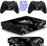 OVERWATCH REAPER XBOX ONE X *TEXTURED VINYL ! * PROTECTIVE SKINS DECALS STICKERS