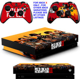 RED DEAD REDEMPTION XBOX ONE X *TEXTURED VINYL ! * PROTECTIVE SKINS DECALS STICKERS