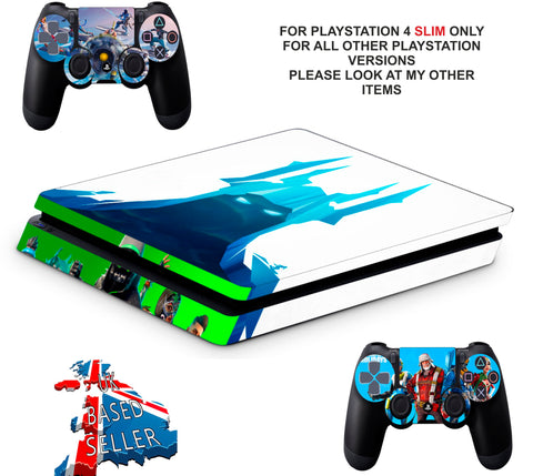 FORTNITE SEASON 7 PS4 SLIM *TEXTURED VINYL ! *PROTECTIVE SKINS DECALS WRAP