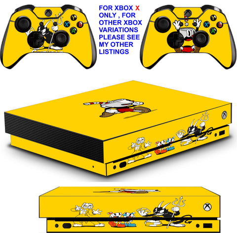 CUPHEAD XBOX ONE X *TEXTURED VINYL ! * PROTECTIVE SKINS DECALS STICKERS