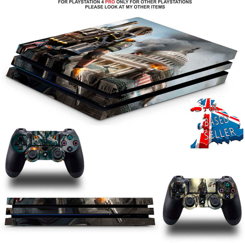 DIVISION 2 PS4 PRO SKINS DECALS (PS4 PRO VERSION) TEXTURED VINYL
