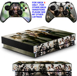 WALKING DEAD XBOX ONE X *TEXTURED VINYL ! * PROTECTIVE SKINS DECALS STICKERS