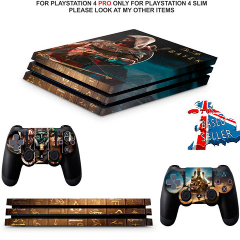 ASSASSINS CREED PS4 PRO SKINS DECALS (PS4 PRO VERSION) TEXTURED VINYL