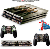 WALKING DEAD PS4 PRO SKINS DECALS (PS4 PRO VERSION) TEXTURED VINYL