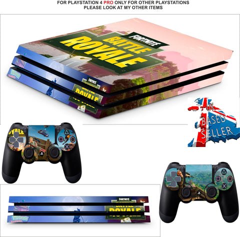 FORTNITE BATTLE ROYALE PS4 PRO SKINS DECALS (PS4 PRO VERSION) TEXTURED VINYL