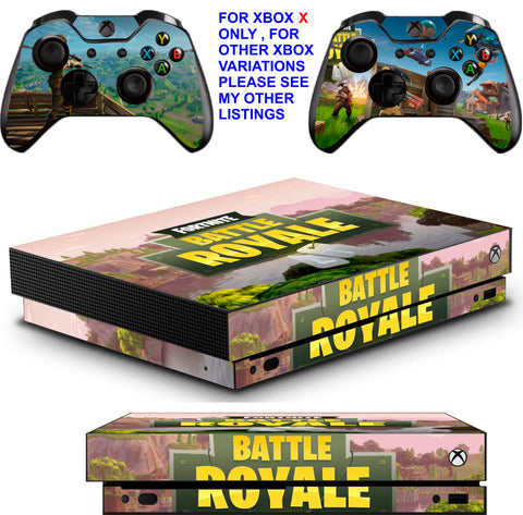 FORTNITE BATTLE ROYALE XBOX ONE X *TEXTURED VINYL ! * PROTECTIVE SKINS DECALS STICKERS