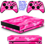 PINK CAMO XBOX ONE X *TEXTURED VINYL ! * PROTECTIVE SKINS DECALS STICKERS
