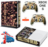 WALKING DEAD 2 XBOX ONE S (SLIM) *TEXTURED VINYL ! * PROTECTIVE SKIN DECAL WRAP