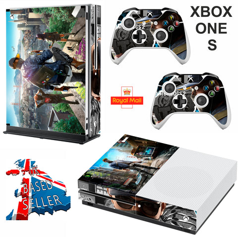 WATCHDOGS  XBOX ONE S (SLIM) *TEXTURED VINYL ! * PROTECTIVE SKIN DECAL WRAP